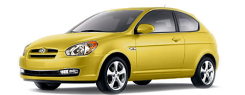2009 Hyundai Accent High MPG 3-Door Hatchback Priced Under $10,000