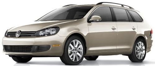 2010 Volkswagen Jetta SportWagen TDI Diesel Station Wagon Priced Under $25,000