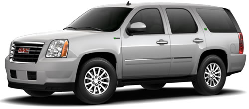 Running On Gas Battery The Yukon Hybrid Gets 20 Mpg City 23 Highway A Combined 21