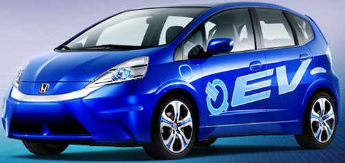 The 2012 Honda Fit EV Is A Electric Car Green Vehicle, A 5 Door Hatchback  With 4 Passenger Doors And Seating A Maximum Of 5 People.